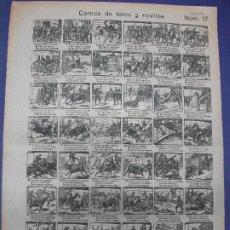 Colecionismo de cartazes: ALELUYA AUCA - CORRIDA DE TOROS Y NOVILLOS Nº 17 LLORENS. Lote 276028578