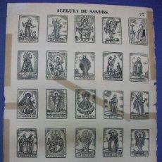 Colecionismo de cartazes: ALELUYA AUCA DE SANTOS Nº 77 BOSCH RELIGION - DESAMPARADOS SANTA LUCIA MAGDALENA PADUA NONAL RITA. Lote 276028983