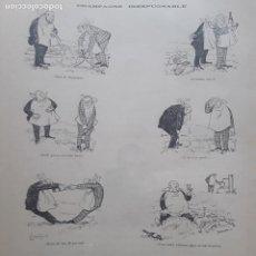 Collectionnisme d'affiches: CHAMPAGNE INEXPUGNABLE VIÑETA COMICA HOJA AÑO 1891. Lote 276143778