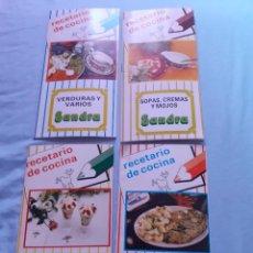 Collectionnisme d'affiches: LOTE DE 4 RECETARIO DE COCINA PROMOCION DE LECHE SANDRA AÑOS 70-80. Lote 276183578