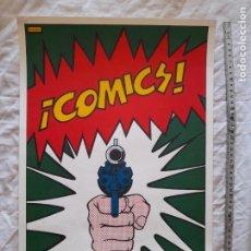 Colecionismo de cartazes: CARTEL EXPOSICIÓN COMIC, LA HISTORIETA DE AVENTURAS EN ESPAÑA. BARCELONA, 1972. Lote 276199968