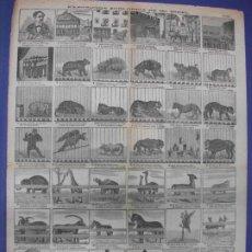 Colecionismo de cartazes: ALELUYA AUCA - EXPOSICION ZOOLOGICA DE MR. BIDEL ANIMALES ZOO Nº 109 BOSCH. Lote 276265073