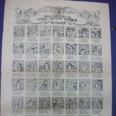 Colecionismo de cartazes: ALELUYA AUCA - VIDA I MIRACLES DE SANT VICENTE VICENT FERRER RELIGION VALENCIA 1964. Lote 276266948