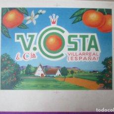 Colecionismo de cartazes: CARTEL ITO ETIQUETA NARANJAS V. COSTA VILLARREAL CASTELLON PRUEBA IMPRENTA COMPLETA 9 HOJAS. Lote 276684868