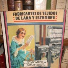 Collectionnisme d'affiches: 1935 CARTEL FABRICANTES DE TEJIDOS DE LANA Y ESTAMBRE MATEO BRUJAS SABADELL BARCELONA POR TUSELL. Lote 276946043