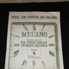 Collectionnisme d'affiches: MÉCANO, CARTEL CONCIERTO EN PALMA 1982,.. Lote 278273478