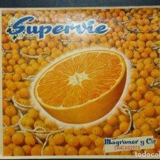 Coleccionismo de carteles: CARTEL ITO ETIQUETA NARANJAS SUPERVIE MAGRANER CARCAGENTE VALENCIA ORIGINAL K10. Lote 278318368