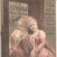 Colecionismo de cartazes: LA ESPAÑOLA GRAN FÁBRICA DE CHOCOLATES VIUDA DE CUNILL NOTA DE PRECIOS 180 MM. X 290 MM.. Lote 279372828