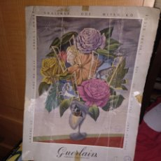 Coleccionismo de carteles: CARTEL PUBLICITARIO DE GERLAIN CON DETERIORO. Lote 281028968