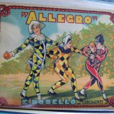 Coleccionismo de carteles: ETIQUETA PARA EXPORTACIÓN DE NARANJAS. E. ROSELLÓ. ALLEGRO NUBES Y NARANJOS. Lote 283401573