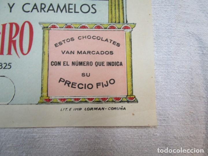 Coleccionismo de carteles: GALICIA - CARTEL MODERNISTA CHOCOLATE LA PROVEEDORA GALLEGA 30X18CM LA CORUÑA, ORIGINAL + INFO - Foto 3 - 287583613