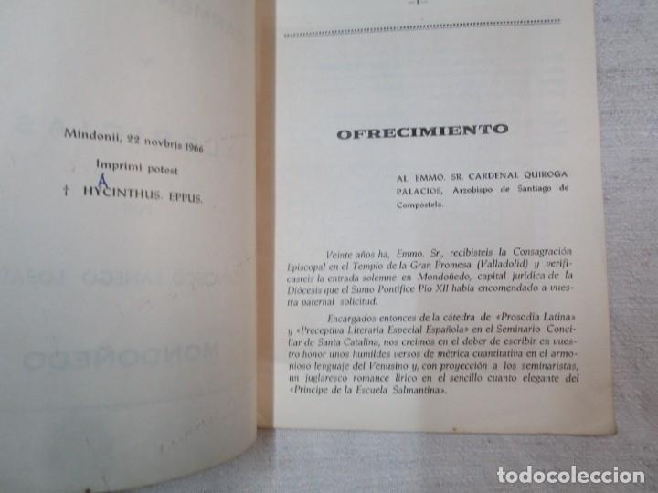 Coleccionismo de carteles: GALICIA POESIA - MONDOÑEDO 1966 - CARMEN AMORIS Y ALBRICIAS - FRANCISCO FANEGO -14PAG DEDICADO +INFO - Foto 2 - 287751618