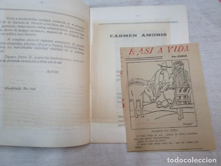 Coleccionismo de carteles: GALICIA POESIA - MONDOÑEDO 1966 - CARMEN AMORIS Y ALBRICIAS - FRANCISCO FANEGO -14PAG DEDICADO +INFO - Foto 3 - 287751618