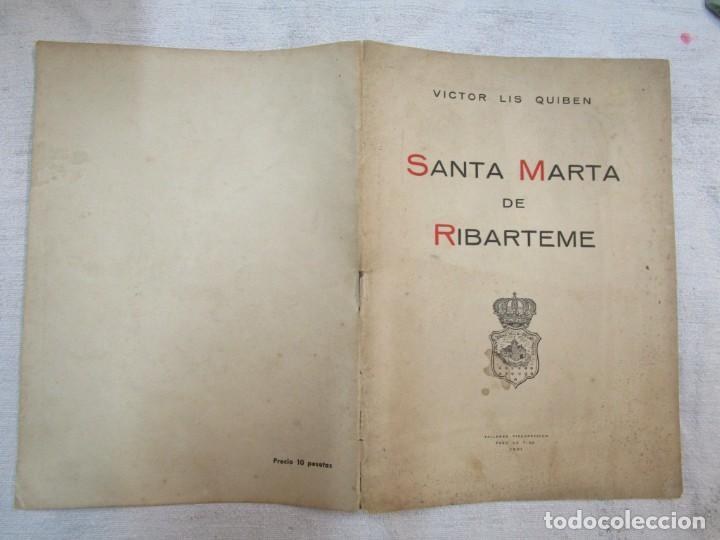 GALICIA PROCESIONES ATAUDES - SANTA MARTA DE RIBARTEME - VICTOR LIS QUIBEN - FARO VIGO 1961+INFO (Coleccionismo - Carteles Pequeño Formato)