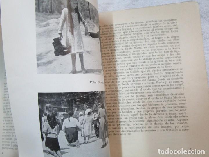 Coleccionismo de carteles: GALICIA PROCESIONES ATAUDES - SANTA MARTA DE RIBARTEME - VICTOR LIS QUIBEN - FARO VIGO 1961+INFO - Foto 8 - 287753473