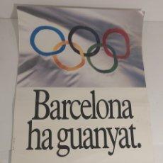 Coleccionismo de carteles: CARTEL ORIGINAL OLIMPIADAS DE BARCELONA 1992. Lote 288443793