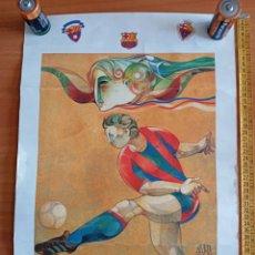Coleccionismo de carteles: CARTEL DE JORDI ALUMÀ , ANTIGUOS JUGADORES DEL F.C. BARCELONA. Lote 288960783