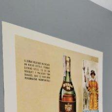 Coleccionismo de carteles: PUBLICIDAD T 1960. ANUNCIO BRANDY BYASS 96. GONZALEZ BYASS. Lote 289479208