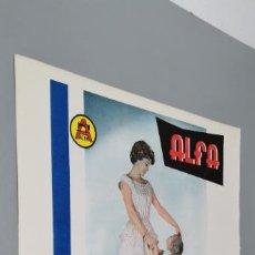 Coleccionismo de carteles: PUBLICIDAD ANTIGUA DE LAS MAQUINAS COSTURA ALFA-A COLOR 1960. Lote 289479498