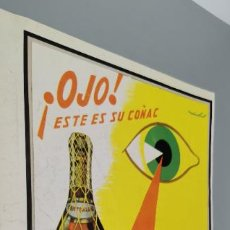 Coleccionismo de carteles: PUBLICIDAD ANUNCIO DE COÑAC CENTENARIO TERRY. PUERTO DE SANTA MARIA. AÑO 1960+PONDS. Lote 289489563