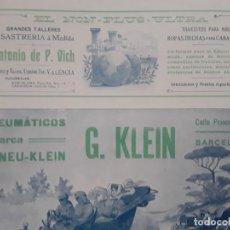Coleccionismo de carteles: TALLERES CONSTRUCCION Y REPARACION MECANICA CALDERERIA COBRE HIERRO JAIME PLANAS BARCELONA AÑO 1907. Lote 289491358