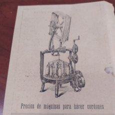 Coleccionismo de carteles: PUBLICIDAD ANTIGUA ,PONS HERMANOS SABADELL.. Lote 292333773