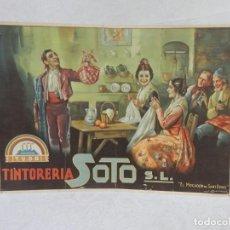 Coleccionismo de carteles: ALMANAQUE, CALENDARIO, TINTORERIA SOTO, ILUSTRACION J.BARREIRA, 47 X 34 CM ORIGINAL. Lote 293152663