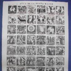 Colecionismo de cartazes: ALELUYA AUCA DE LA FESTA MAJOR - DIBUJO DE ENRIC C. RICART - IMPRENTA OLIVA DE VILANOVA BARCELONA. Lote 293724868