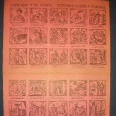 Colecionismo de cartazes: ALELUYA AUCA CAYETANO Y SU CHAVAL HISTORIA BREVE Y FORMAL TOROS PUBLICIDAD AGROMAN LA PALOMA BARAJA. Lote 293729058
