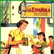 Colecionismo de cartazes: CARTELES FRUTAS Y VERDURAS - PUBLICIDAD IMÁGENES - LA ESPAÑOLA - UNA ACEITUNA COMO NINGUNA - ALCOY. Lote 295457933