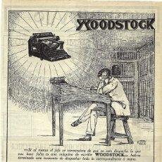 Coleccionismo de carteles: 1919 HOJA REVISTA PUBLICIDAD ANUNCIO MÁQUINA DE ESCRIBIR WOODSTOCK. Lote 296609948
