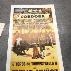 Coleccionismo de carteles: CARTEL PLAZA DE TOROS CORDOBA. FERIA DE MAYO 1990. EMILIO MUÑOZ - ESPARTACO - VICTOR MENDEZ. Lote 296621573