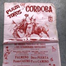 Coleccionismo de carteles: CARTE SEDA TOROS EN CORDOBA. C. 1980. Lote 296623868
