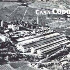 Coleccionismo de cava: CODORNÍU - SAN SADURNI DE NOYA. Lote 22001699