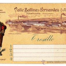 Coleccionismo de cava: SIDRA CHAMPAGNE. EL GAITERO. TARJETA COMERCIAL TAMAÑO POSTAL MODERNA. VILLAVICIOSA ASTURIAS.. Lote 17525400