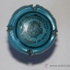 Coleccionismo de cava: TAPON DE CAVA CON PLACA CODORNIU AZUL. Lote 9521563