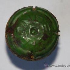 Coleccionismo de cava: TAPON DE CAVA CON PLACA RONDEL VERDE. Lote 9521680