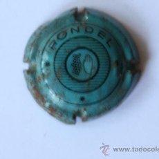 Coleccionismo de cava: PLACA DE CAVA RONDEL AZUL. Lote 9670260