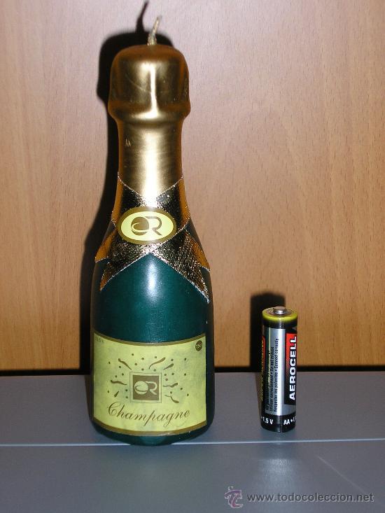 BOTELLIN DE CAVA --- ES UNA VELA AROMATICA Y ROMANTICA (Coleccionismo - Botellas y Bebidas - Cava)