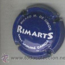 Coleccionismo de cava: PLACA DE CAVA. RIMARTS.BLAVA. AZUL. . Lote 13069959