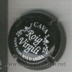 Coleccionismo de cava: PLACA DE CAVA. ROIG VIRGILI. NEGRA. . Lote 13070512