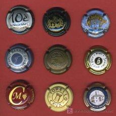 Coleccionismo de cava: LOTE DE 9 CHAPAS DE CAVA, CHAVA, ORIGINALES, DIFERENTES, L21. Lote 25884514