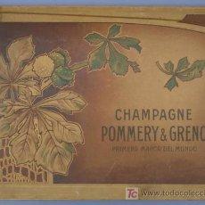 Coleccionismo de cava: CARTAPACIO. CHAMPAGNE POMMERY & GRENO. PRIMERA MARCA MUNDIAL. BORDEAUX. SIN FECHA.. Lote 24168435