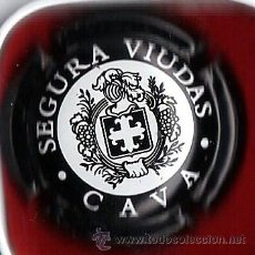 Coleccionismo de cava: CHAPA PLACA CAVA.- SEGURA VIUDAS.- NEGRA .- CH- 221. Lote 20953739