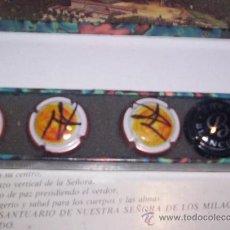 Coleccionismo de cava: LOTE DE CHAPAS DE CAVAS EN CAJITA - 4 UNIDADES. Lote 24915612