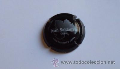 PLACA CAVA IVAN SALDANYA (NEGRA) (Coleccionismo - Botellas y Bebidas - Cava)
