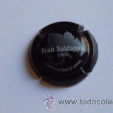 Coleccionismo de cava: PLACA CAVA IVAN SALDANYA (NEGRA). Lote 27420607