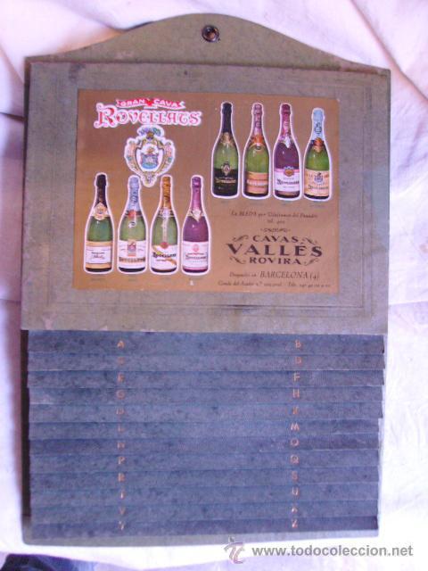 INTERESANTE LISTIN TELEFONICO - GRAN CAVA PUBLICIDAD ROVELLATS CAVAS VALLES ROVIRA (Coleccionismo - Botellas y Bebidas - Cava)