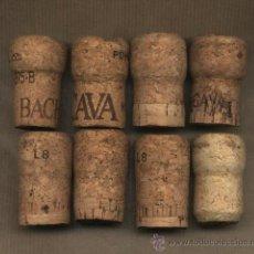 Coleccionismo de cava: 8 TAPONES CORCHO CAVA Y VINO. BACH,ESTELADA,VILAFRANCA,RE.2020.TAPÓN.. Lote 29771287
