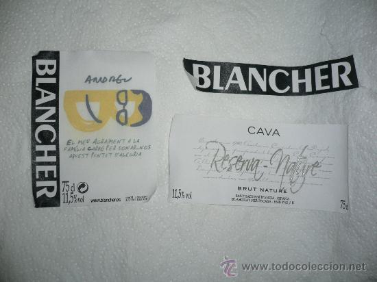 ETIQUETA DE CAVA BANCHER. EDICIÓN ESPECIAL BUENAFUENTE (Coleccionismo - Botellas y Bebidas - Cava)